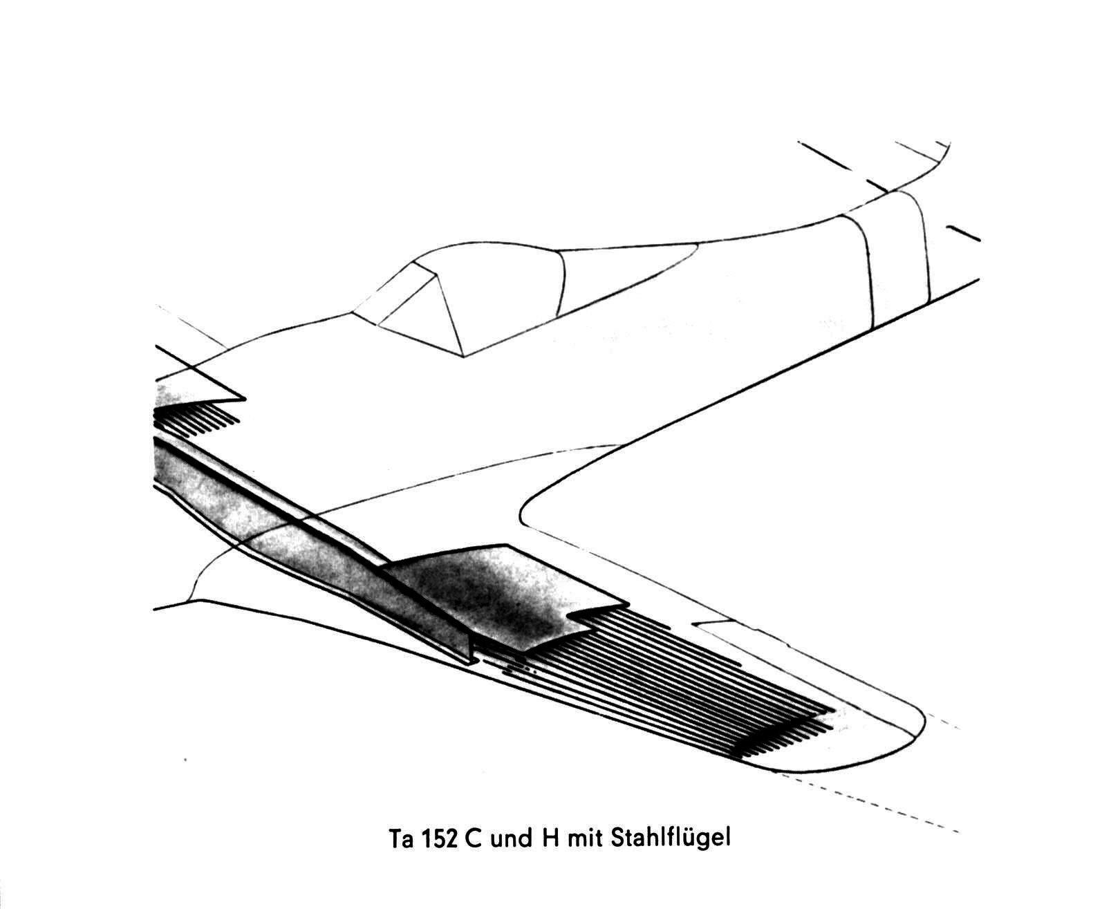 Ta 152 C und H mit Stahlfügel
