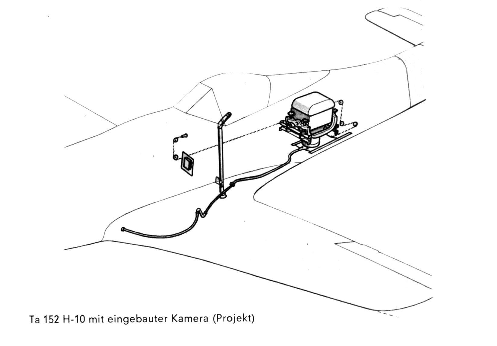 Ta 152 H-10 mit eingebauter Kamera (Projekt)